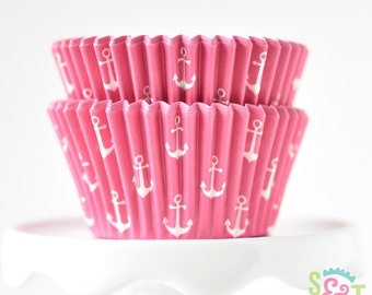 Anchor Pink BakeBright GREASEPROOF Baking Cups Cupcake Liners | ~30 count