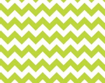 Summer Clearance Riley Blake Fabric - Half Yard of Small Chevron in Lime