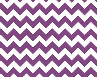 Summer Clearance Riley Blake Fabric - 1 Yard of Small Chevron in Purple