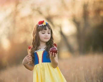 Girls Snow White Twirl Dress, Snow White's Dress inspired by Disney's Snow White, sizes 2T-8girls