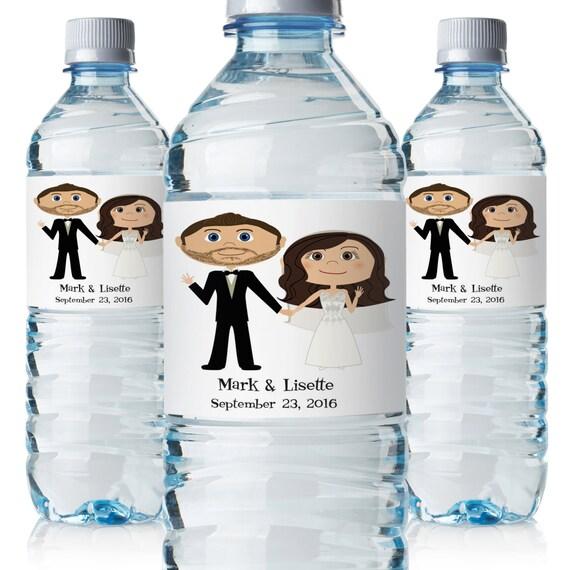 Wedding Water Bottle Labels Wedding Bottle Labels Custom