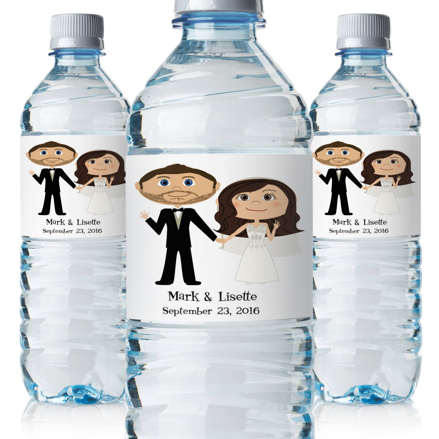 Wedding water bottle labels wedding bottle labels custom for How to put labels on bottles