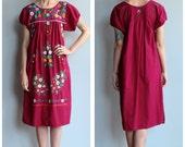 1960s Dress // Embroidered Summer Garden Dress // vintage 60s dress