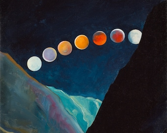 """Eclipse Over Boise River 12""""x12"""" giclee print"""