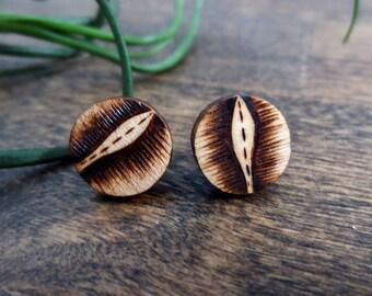 Wooden Stud Earrings
