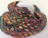 Reserved for Sarah Cowl Infinity Scarf Bulky Knit Multicolored