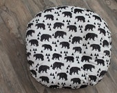 boppy lounger  cover,All minky boppylounger cover,  geometric bear minky boppylounger  cover with Chocolate minky dot back- Ships Today
