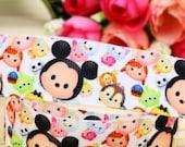 Free Shipping/ Lot 3 yards Grosgrain Ribbon,Disney Tsum Tsum, Printed Ribbon, Hairbow ribbon, Sewing Ribbon, Scrapbook