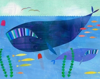 Right Whales, Canvas Art Print