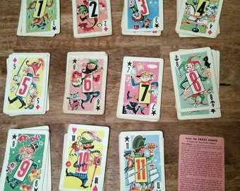 Vintage Crazy Eights Card Game Complete