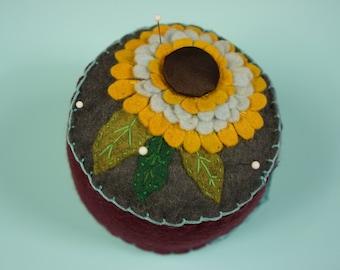 Sunflower Power Flower Pincushion