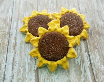 Sunflower Sugar Cookies