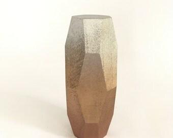 Ombre Metallic Geometric Wood Blocks- Single Block