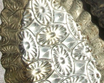 Pair of Vintage French Patisserie Petit Four Baking Trays Cake Moulds fluted tins tarts flans
