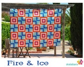 Fire & Ice Quilt Pattern pdf file for confident beginners - instant download
