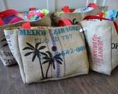 RESERVED FOR KERRI 4 Eco Friendly Coffee Sack Palm Tree
