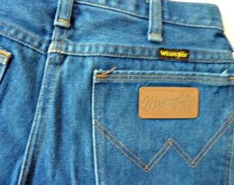 Wrangler Blue Jeans 1980's Size 29 x 31