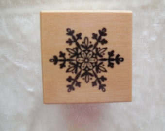 Vintage, Never Used,  PSX Rubber Stamp Snowflakes Stamp B274, Single Snowflake Rubber Stamp
