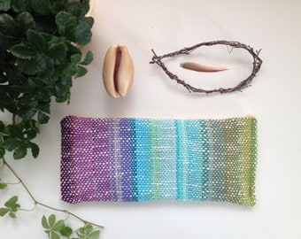Lavender Eye Pillow with Handwoven Textile