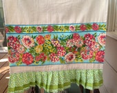 Reserved for Tara -Table Runner with Pleated Ruffle, 94X15.5 inches