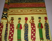 Per Yard Fabric Village ladies, Ethnic print fabric, Made in Africa Fabric/ Fabric for African clothing, quilting, Head wraps, African decor