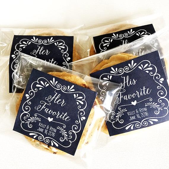Wedding Favor Bag Tags : Personalized Wedding Favor Tags for Snack Bag Labels, Cookie Bag Label ...