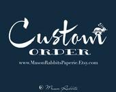 Custom ORder for  Cristin Jordan - 11 Eloise (CUSTOM IMAGES) Wedding Luminaries