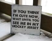 Hockey Sign, Funny Hockey Decor, Baby Boy Hockey Room Decor, Baby Boy Gift, Hockey Baby Shower, Sports Decor, Kids Room Themes, Sports Decor