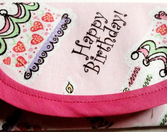 Bags & Purses Wallets Money clip Pouch coin Purse Happy Birthday Fabric, 4.5 x 3  business or gift cards, Clutch Envelope Kids Teens Women