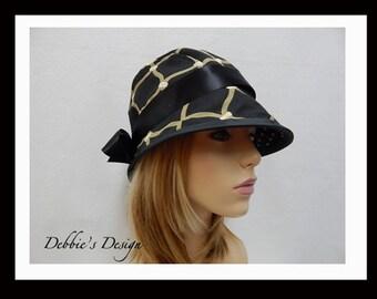 Women's Handmade Cloche Hat-500 Women's Handmade Hats,  Handmade, Womens, Cloche, Womens Hats, Lightweight, Accessories, Hats, Folk, Hair