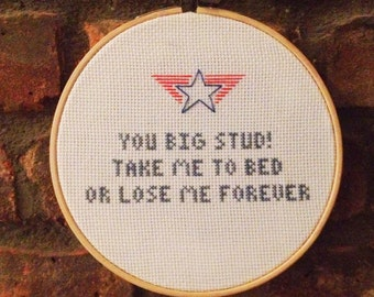 """Top Gun movie quote """"you big stud! Take me to bed or loose me forever"""""""