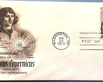 USPS First Day of Issue Nicolaus Copernicus Cover 1973