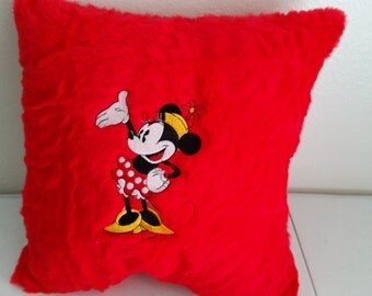 Disney Minnie Mouse Embroidered Pillow