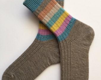 Hand Cranked Ladies' Wool Socks, Regia Pairfect