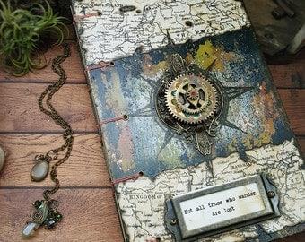 the Traveler II - Coptic Bound Mixed Media Blank Journal