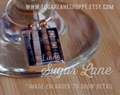Personalized Scrabble Tile Wine Charm - Custom Photo Wine Charm with Name and Beads