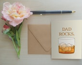 Father's Day Card, Father's Day Greeting Card, Dad Rocks, Father's Day Greeting, Card for Dad, Funny Card for Dad, Funny Greeting: Dad Rocks