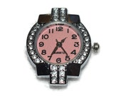 Elegant Pink Watch Face Bling for Beading Jewelry Finding Supply round and square