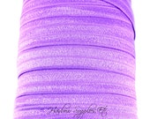 Purple Fold Over Elastic 1, 5 or 10 yards 5/8 inch FOE - Shiny for Headbands Hair Ties Hairbow Supplies, Etc.