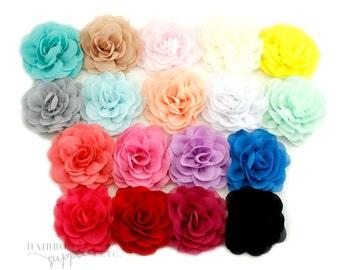 Chiffon Caprice 3 inch Chiffon Flowers - Chiffon Headband, Chiffon Flower Hair, Chiffon Flower Headband, Chiffon Headband, Baby Flower
