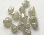 55% ON SALE White Grey Rough Diamond Crystal, Raw Diamond, Uncut Diamond, Loose Diamond, Diamond Octahedron, 2.5-4mm, 2 Pcs, 1 CTW