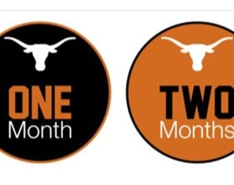 Baby Monthly Stickers UT Texas Longhorns