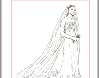 "PDF Download ""The Wedding Day"" a LivelyStitch Design sewing pattern for the Silkstone Barbie doll"