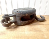 Vintage Block and Tackle Pulley Farmhouse Barn