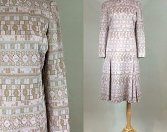 60s Mod Dress / Vintage 1960s Geometric Print Dress / Vintage 60s Dress / 1960s Mod Dress / Vintage Retro Dress / 60s Retro Dress