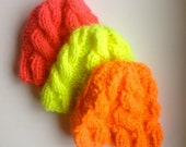 Chunky Neon Cable Knit Hat by Pretty Offensive