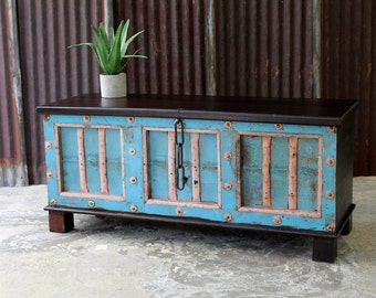 SALE Large Trunk Storage Bench Blanket Box Shoe Storage Reclaimed Antique Indian Door Mudroom Moroccan Interior Childrens Room