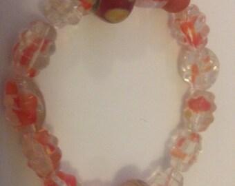 Autumn Gold Orange Stretch Bracelet
