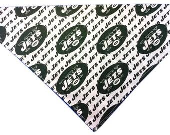 New York Jets Dog Bandana (White) LIMITED EDITION