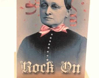 Rock On Granny Card, Rocker Grandmother Card, Gran Party Animal Card